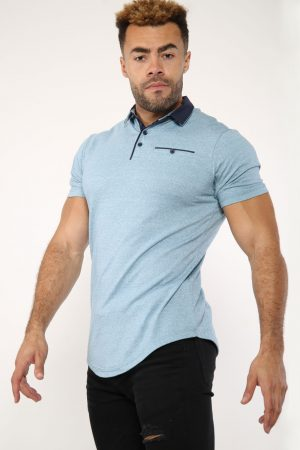 light blue polo outfit