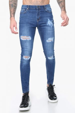 skinny fit ripped jeans