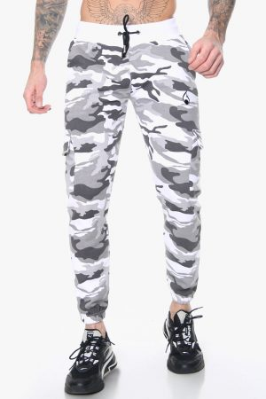 men's white camo trousers